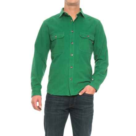 Woolrich Expedition Chamois Shirt - Long Sleeve (For Men) in Forest Green - Closeouts