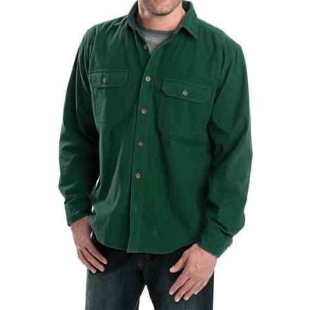 Woolrich Expedition Chamois Shirt - Long Sleeve (For Men) in Forest - Closeouts