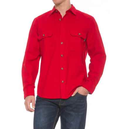 Woolrich Expedition Chamois Shirt - Long Sleeve (For Men) in Old Red - Overstock