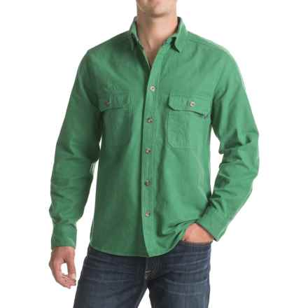 Woolrich Expedition Chamois Shirt - Modern Fit, Long Sleeve (For Men) in Forest Green - Closeouts