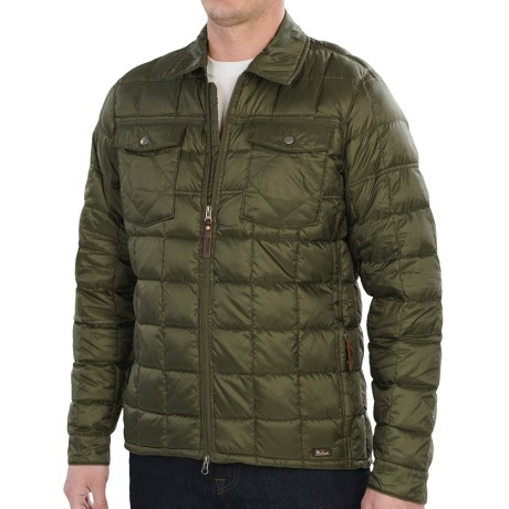 Woolrich Exposure Down Shirt Jacket - 800 Fill Power (For Men) in Pumice