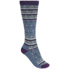 Woolrich Fair Isle Knee-High Socks - Merino Wool, Over the Calf (For Women) in Blue Haze - Closeouts