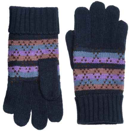 Woolrich Fair Isle Knit Gloves (For Women) in Hyacinth - Closeouts