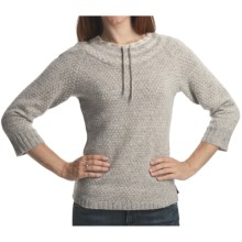 Woolrich Fair Isle Pullover Sweater - Lambswool, 3/4 Sleeve (For Women) in Grey Heather - Closeouts