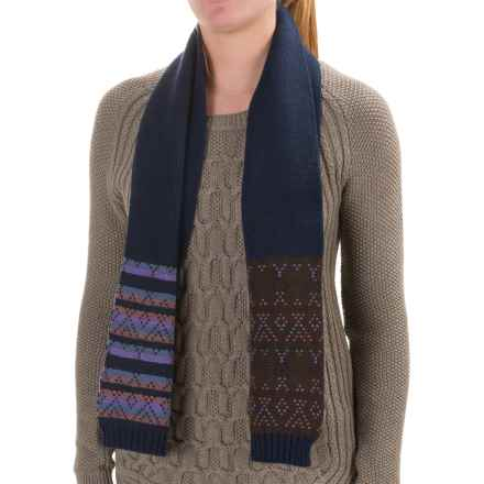 Woolrich Fair Isle Scarf (For Women) in Hyacinth - Closeouts