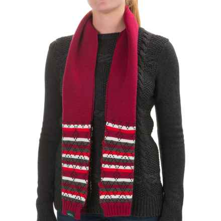 Woolrich Fair Isle Scarf (For Women) in Scarlet - Closeouts