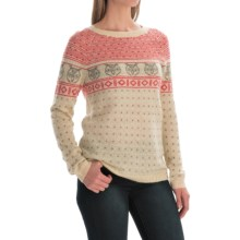 Woolrich Fair Isle Sweater (For Women) in Wool Cream Fair Isle - Closeouts