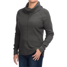 Woolrich Fairmount Cowl Neck Shirt - Long Sleeve (For Women) in Coal - Closeouts