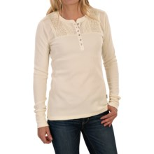 Woolrich Fairmount Henley Shirt - Long Sleeve (For Women) in Wool Cream - Closeouts