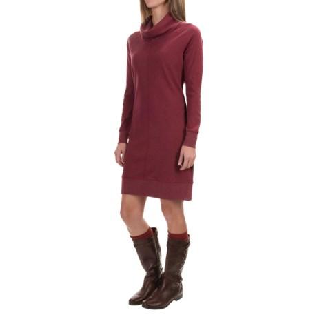 Woolrich Fairmount Waffle Dress - Long Sleeve (For Women) in Deep Ruby