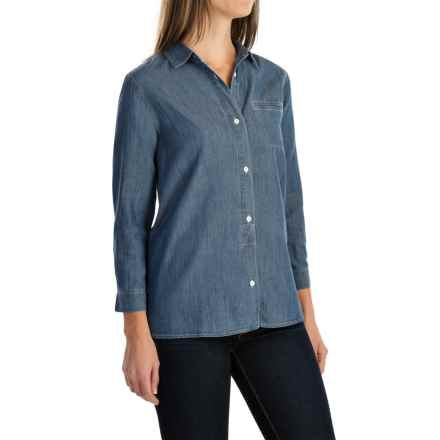 Woolrich Fairview Denim Shirt - Cotton-TENCEL®, Long Sleeve (For Women) in Bleach - Closeouts