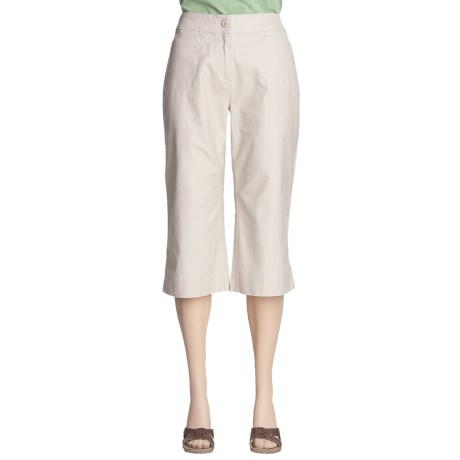 Woolrich Fairwinds Clam Diggers Capri Pants (For Women) in Stone