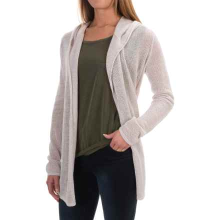 Woolrich Fairwood Hooded Cardigan Sweater (For Women) in Silver Gray Multi - Closeouts