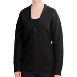 Woolrich Fall Brook Cardigan Sweater - Lambswool, Full Zip (For Women) in Black
