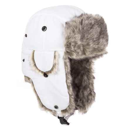 Woolrich Faux-Fur Trapper Hat (For Men) in White - Closeouts