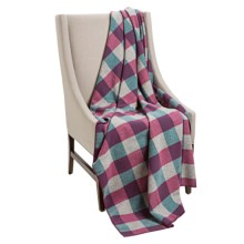 """Woolrich Fawn Grove Throw Blanket - Wool, 54x70"""" in Boysenberry Multi - Closeouts"""