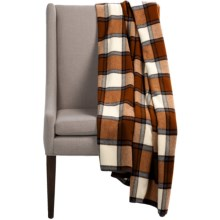 "Woolrich Fawn Grove Throw Blanket - Wool, 54x70"" in Soft Chestnut - Closeouts"