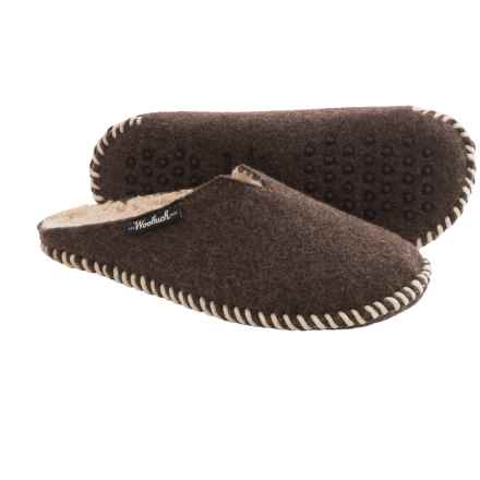 Woolrich Felt Mill Fleece-Lined Scuff Slippers (For Men) in Java - Closeouts