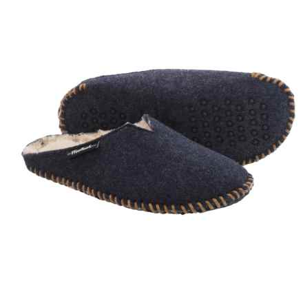 Woolrich Felt Mill Scuff Slippers (For Men) in Obsidian - Closeouts