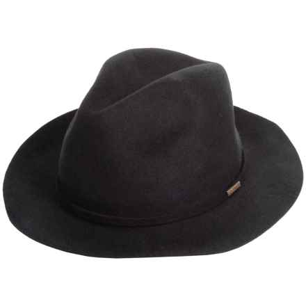 Woolrich Felted Wool Safari Hat - Crushable (For Men and Women) in Black - Closeouts