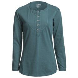 Woolrich First Fork Bib Henley Shirt - Cotton Jersey, Long Sleeve (For Women) in Clay