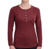 Woolrich First Fork Bib Henley Shirt - Cotton Jersey, Long Sleeve (For Women)
