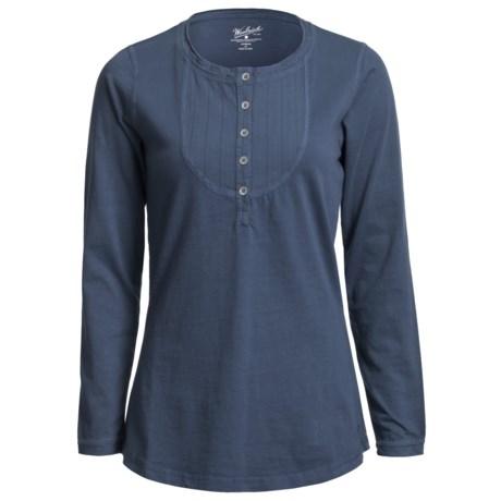 Woolrich First Fork Bib Henley Shirt - Cotton Jersey, Long Sleeve (For Women) in Marine