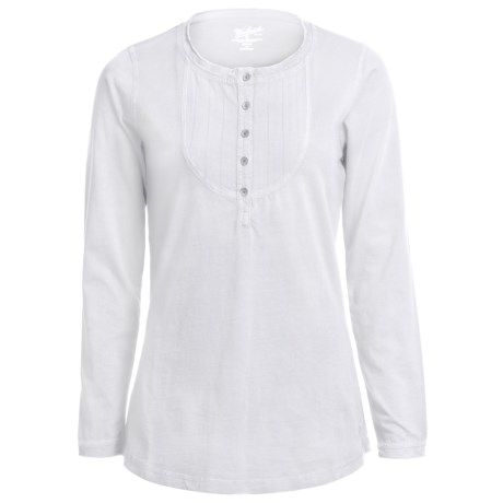 Woolrich First Fork Bib Henley Shirt - Cotton Jersey, Long Sleeve (For Women) in White