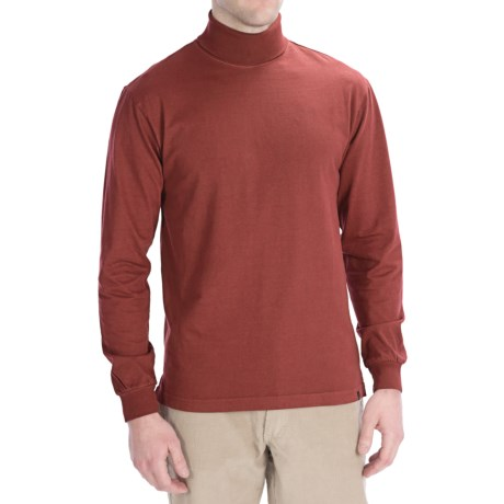 Woolrich First Fork Cotton Turtleneck - Long Sleeve (For Men) in Lava