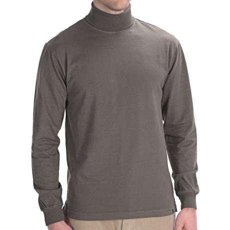 Woolrich First Fork Cotton Turtleneck - Long Sleeve (For Men) in Slate