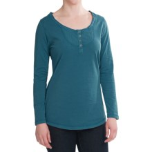 Woolrich First Fork Henley Shirt - Cotton Jersey, Long Sleeve (For Women) in Deep Aqua - Closeouts
