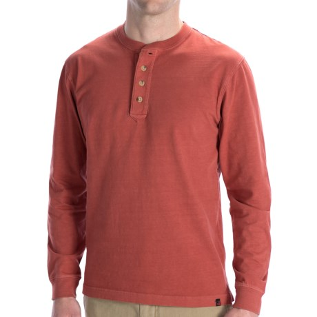 Woolrich First Fork Henley Shirt - Long Sleeve (For Men) in Lava
