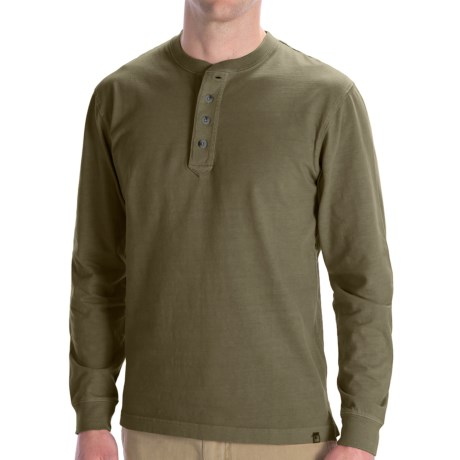 Woolrich First Fork Henley Shirt - Long Sleeve (For Men) in Olive