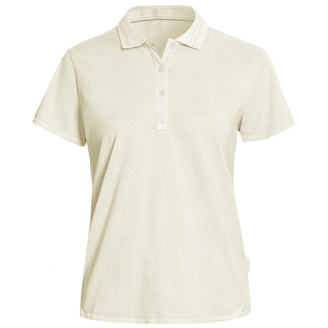 Woolrich First Fork Lace Polo Shirt - Short Sleeve (For Women) in Ecru