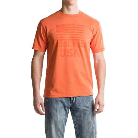 Woolrich First Forks Graphic T-Shirt - Short Sleeve (For Men) in Mandarin - Closeouts