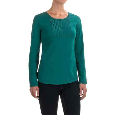 Woolrich First Forks Henley Shirt - Long Sleeve (For Women) in Dark Teal - Closeouts