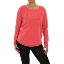 Woolrich First Forks Henley Shirt - Long Sleeve (For Women) in Hot Guava - Closeouts