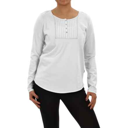 Woolrich First Forks Henley Shirt - Long Sleeve (For Women) in Sea Salt - Closeouts