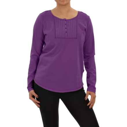 Woolrich First Forks Henley Shirt - Long Sleeve (For Women) in Wisteria - Closeouts