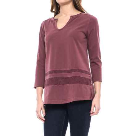 Woolrich First Forks Lace-Trimmed Shirt - Long Sleeve (For Women) in Cordovan - Closeouts