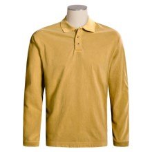 Woolrich First Forks Polo Shirt - Long Sleeve (For Men) in Mustard - Closeouts