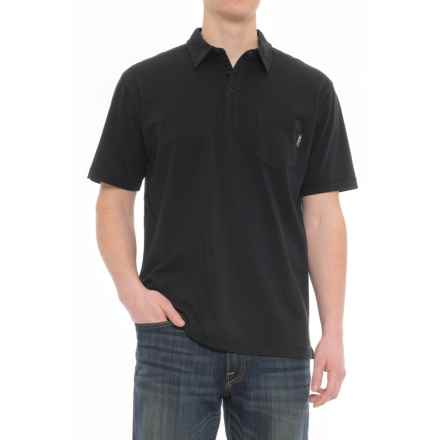 Woolrich First Forks Polo Shirt - Short Sleeve (For Men) in Black - Closeouts