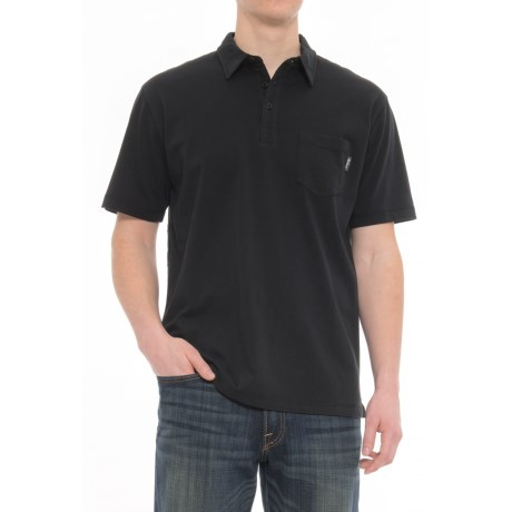 Woolrich First Forks Polo Shirt - Short Sleeve (For Men) in Black
