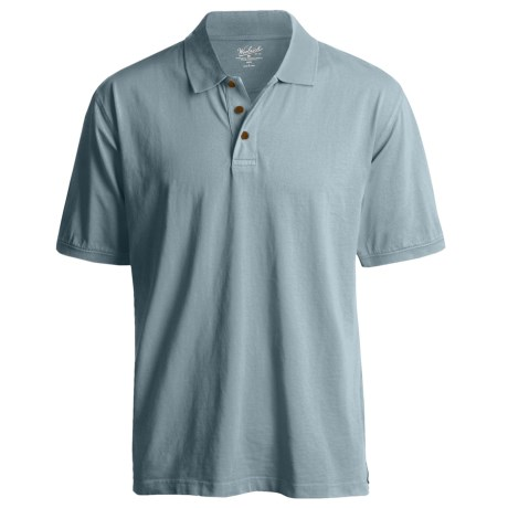Woolrich First Forks Polo Shirt - Short Sleeve (For Men) in Chambray