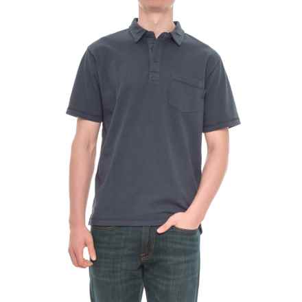 Woolrich First Forks Polo Shirt - Short Sleeve (For Men) in Deep Indigo - Overstock
