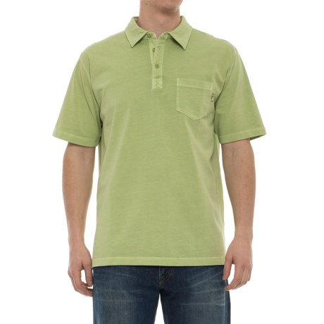 Woolrich First Forks Polo Shirt - Short Sleeve (For Men) in Leaf Green