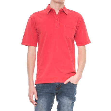 Woolrich First Forks Polo Shirt - Short Sleeve (For Men) in Old Red