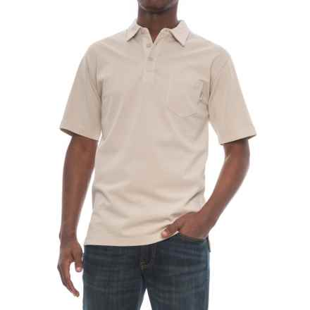 Woolrich First Forks Polo Shirt - Short Sleeve (For Men) in Stone - Closeouts