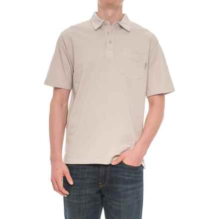 Woolrich First Forks Polo Shirt - Short Sleeve (For Men) in Stone - Overstock