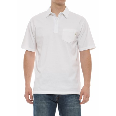 Woolrich First Forks Polo Shirt - Short Sleeve (For Men) in White